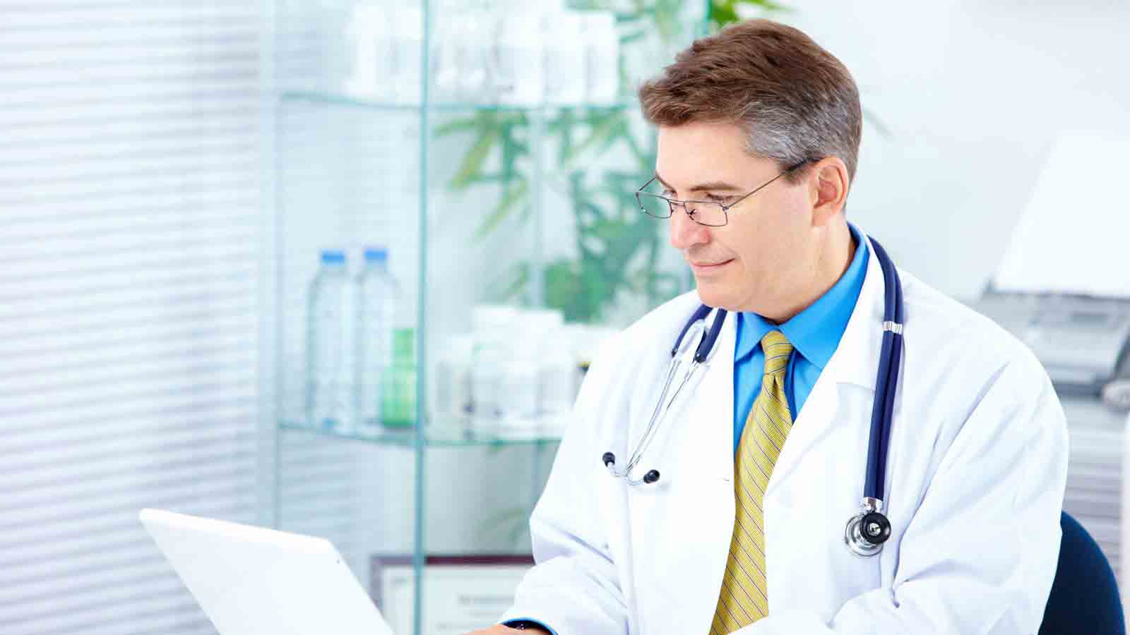 Epping Doctor reviewing patient information