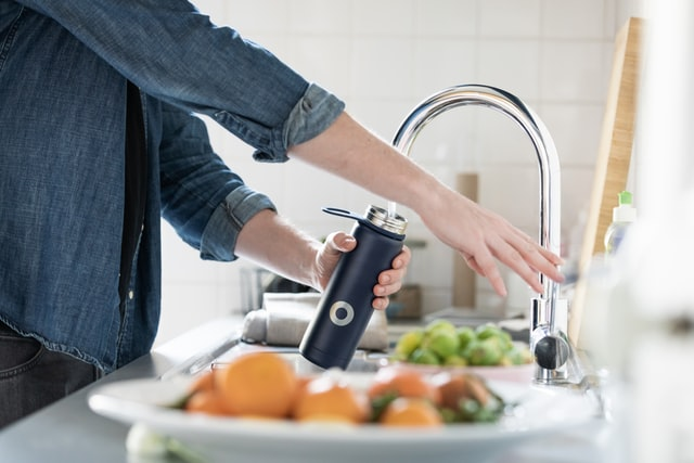 Refilling your water bottle is a great new way to increase your water intake