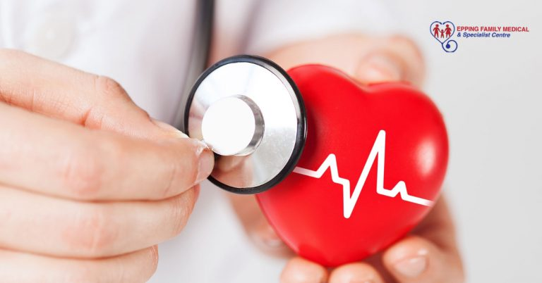 A heart health doctor stressing the importance of healthy diet and exercise to ward off heart disease
